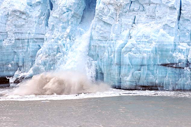glacier calving glacier bay