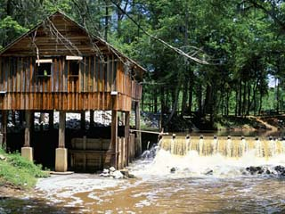 Restored Mill Near Riley, in Monroe County, Southern Alabama, Alabama, USA