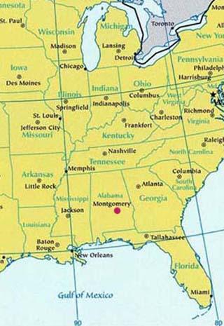 alabama latitude and longitude map