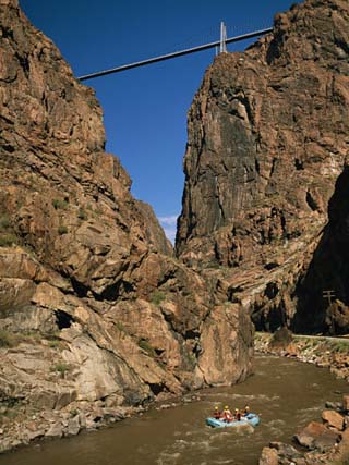 Rafting on the Arkansas River Below the Royal Gorge Bridge