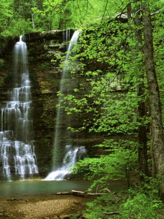Twin Falls, Buffalo National River, Arkansas, USA