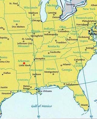 arkansas latitude and longitude map