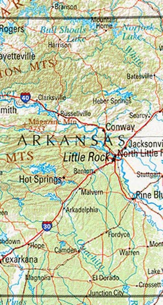 maps of arkansas