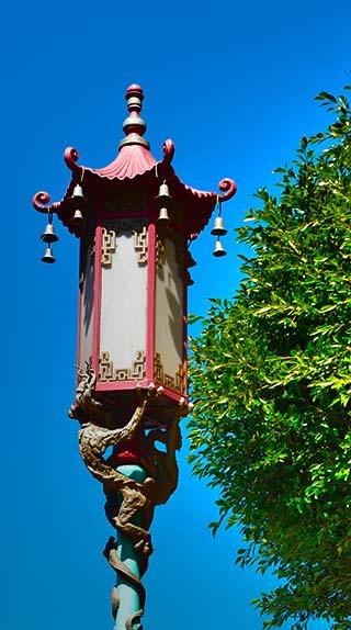 Chinatown street lamp