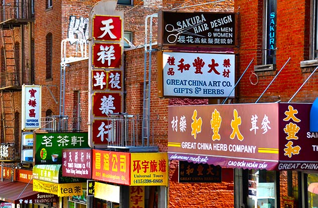 Chinatown signs