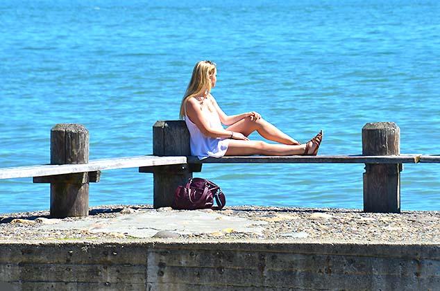 relaxing at fishermen's wharf
