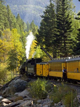The Durango & Silverton Narrow Gauge Railroad, Colorado, USA