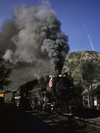 A Steam Engine Leaves the Station in Durango, Colorado, Durango, Colorado