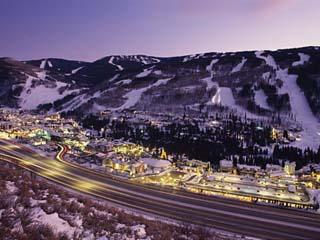 View over I-70, Vail, Colorado