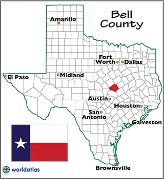 Bell County Texas Map