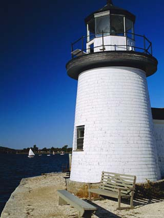 Lighthouse, Living Maritime Museum, Mystic Seaport, Connecticut, USA