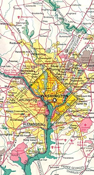 Washington Dc Maps Including Outline and Topographical Maps ...