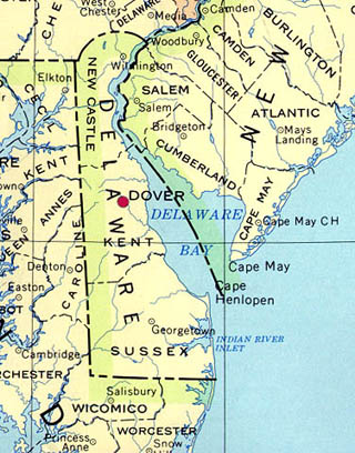delaware latitude and longitude map