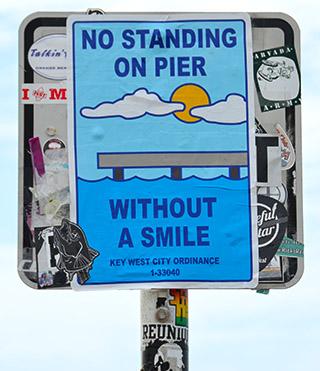pier sign key west