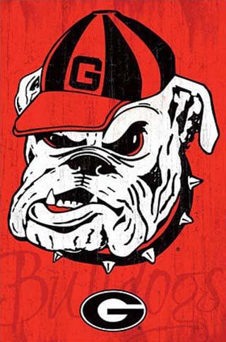 University of Georgia Bulldogs NCAA Poster