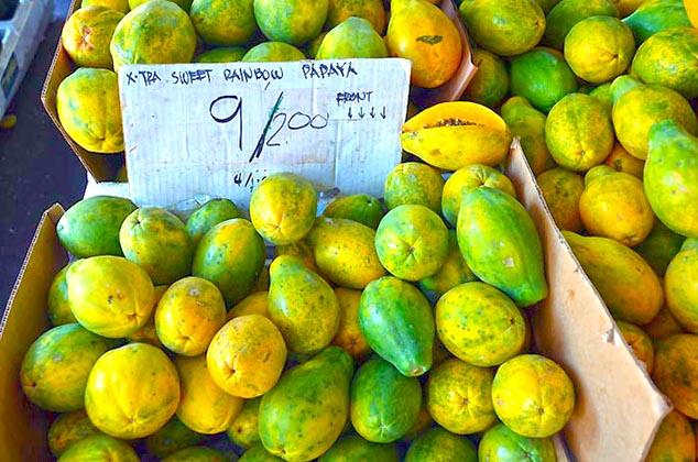 papya fruit hawaii