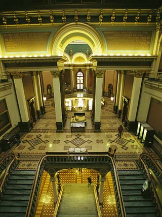 A Staircase Inside the Iowa State Capitol which was Constructed Between 1871 and 1886