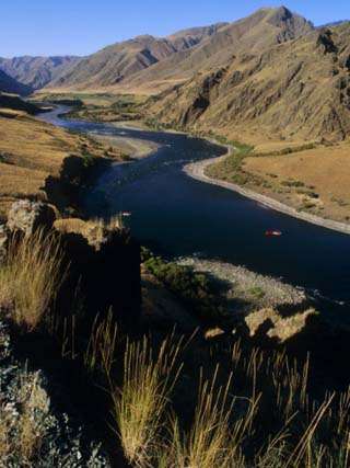 Idaho, Whitewater Rafting on the Snake River in Hells Canyon, USA