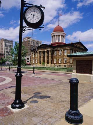 Old State Capitol Plaza, Springfield, Illinois, USA