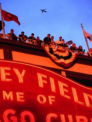 Wrigley Field Baseball Crowd During the Playoffs, Chicago, Illinois