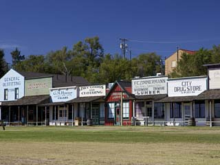 Front Street in Dodge City, Frontier Town of the Old West, Kansas, USA, North America