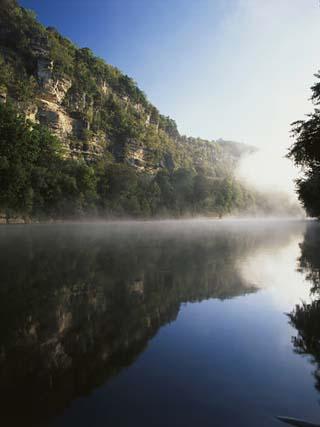 Morning Mist Along the Kentucky River Palisades, Kentucky, USA