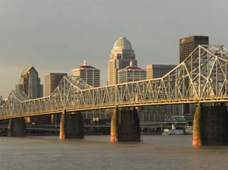 Clark Memorial Bridge, Louisville, Kentucky, USA