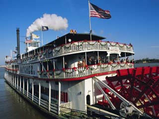 Paddle Steamer 'Natchez', on the Edge of the Mississippi River in New Orleans, Louisiana, USA