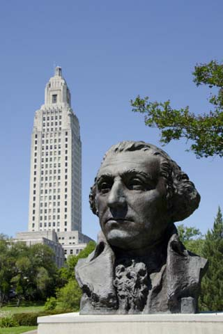 Old State Capitol Building, 34-Story 'New' Building, Baton Rouge, Louisiana, USA