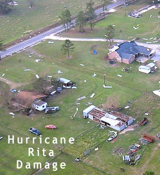 hurricane rita damage