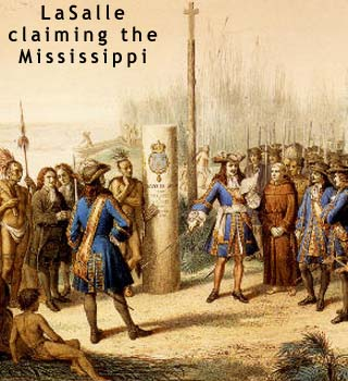 la salle discovers the mississippi