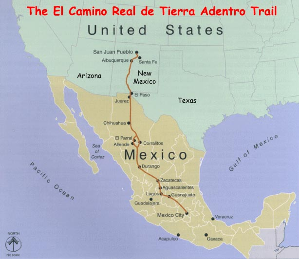 el camino real connected with the santa fe trail at santa fe and became the essential link between the growing u s economy and the long established mexican
