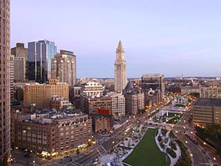 Atlantic Avenue and Customs House, Boston, Massachusetts, USA