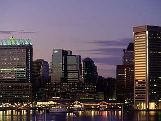 Inner Harbor at Dusk, Baltimore, Maryland