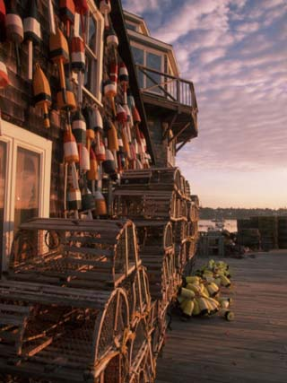 Early Light in Fishing Village of Bernard, Maine, USA