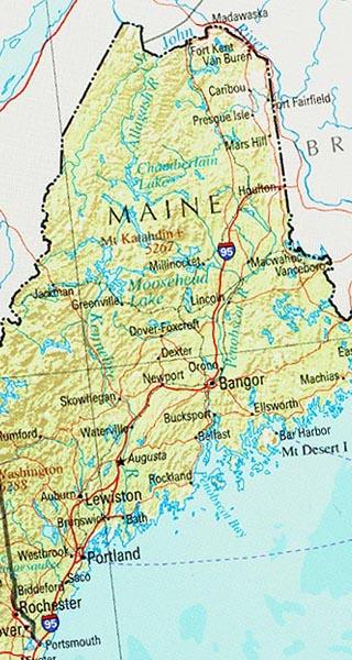 maine maps