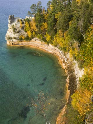 Miner's Castle overlook on Lake Superior, Munising, Upper Peninsula, Michigan, USA