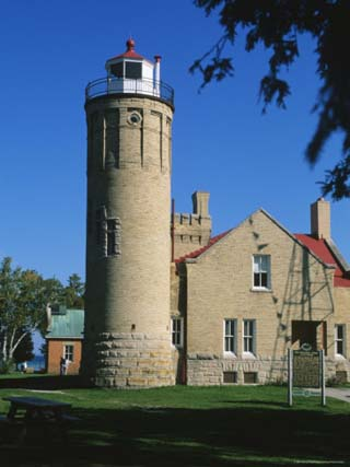 Old Mackinac Point Lighthouse, Mackinaw City, Michigan, USA