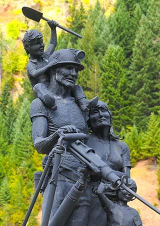 miner statue montana