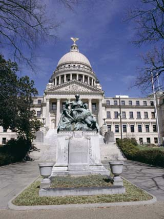 Confederate Women Monument Outside Mississippi State Capitol, Jackson, Mississippi, North America