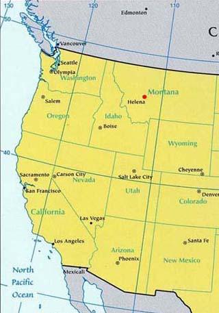 montana latitude and longitude map