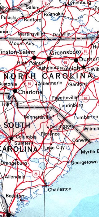 maps of north carolina