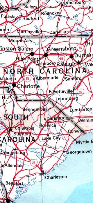 maps of north carolina