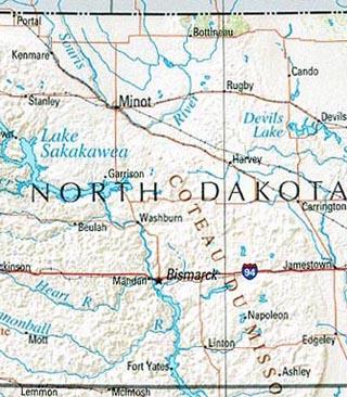 north dakota maps