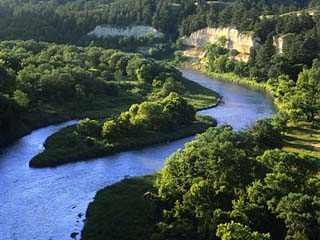 The Niobrara River Near Valentine, Nebraska, USA