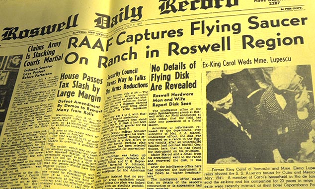 alien newspaper headline roswell new mexico
