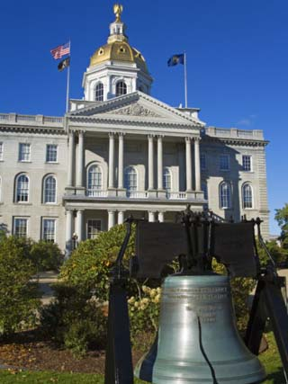 Liberty Bell at the State Capitol, Concord, New Hampshire, New England, USA