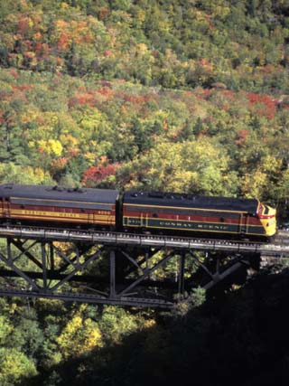 The North Conway Scenic Railroad in New Hampshire's White Mountains