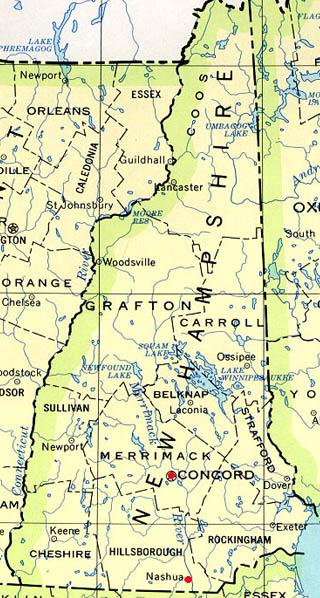 new hampshire latitude and longitude map