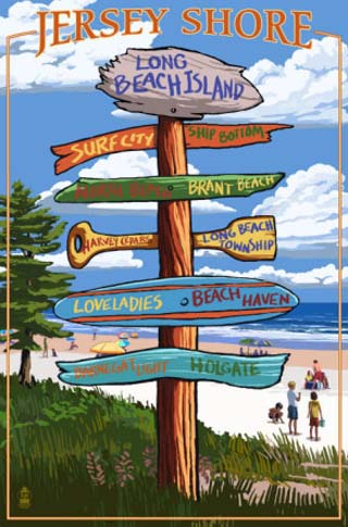 Long Beach Island, New Jersey Destination Sign
